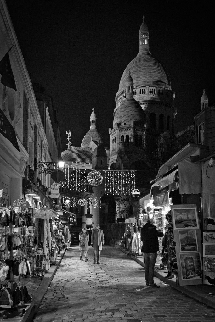 January 4, 2011 Montmartre by night Montmartre