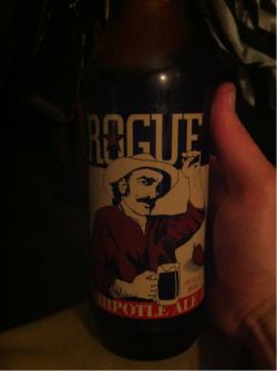 Tonight I'd like to try one of the many unique beers Rogue releases. The one I'm drinking tonight is their Chipotle Ale. You don't see it too often, but they list the ingredients on the side of the bottle. Pretty cool!  The aroma is very interesting. It's spicy, mildly smoky, and it kind of reminds me of something vintage. The taste has some spice & kick; you can taste the pepper in this beer. Spice aside, I find this beer to be surprisingly easy to drink.  I give aroma a 9.5, taste a 9.5, and drinkability a 10. With a 29/30, it gets a final score of 97. This was an awesome beer to try. It's not a beer that you can drink more than one of, but it's got a smooth, yet spicy taste to it. And the peppery flavor is not overwhelming in the least.