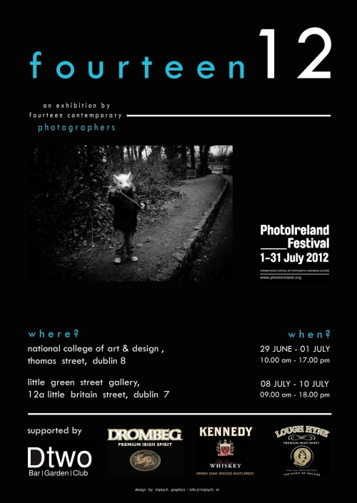 poster for our show in PhotoIreland. 'throwing rocks…' features in this exhibition.