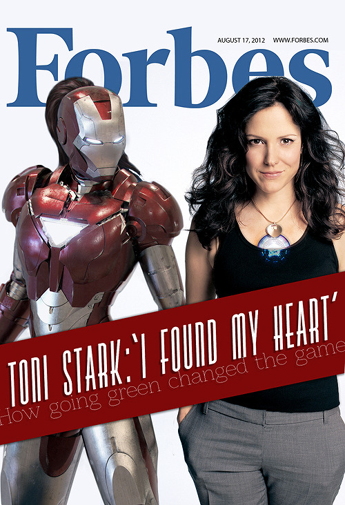 theghostparty:   Iron Maven: Antoinette 'Toni' Stark graces the cover of Forbes magazine along with her Iron Maven armour  Armour found here.