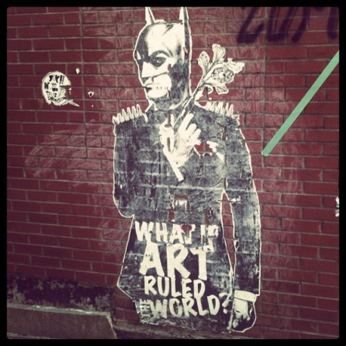 What if Batman ruled the world (Pris avec Instagram à Rue Bernard)