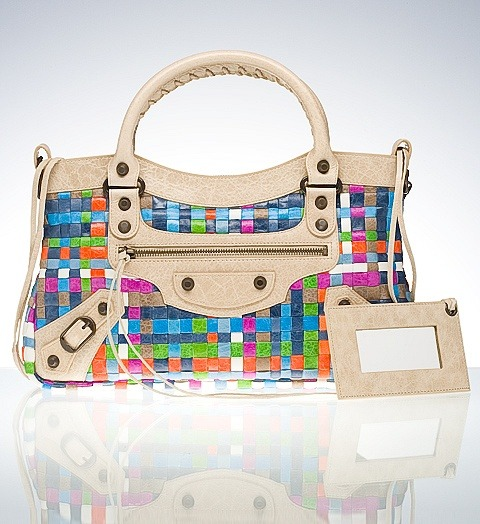 Balenciaga Limited Edition Unf. I want this magical mystery multicolor woven leather handbag so bad. If anyone knows where to find one, hit me up.