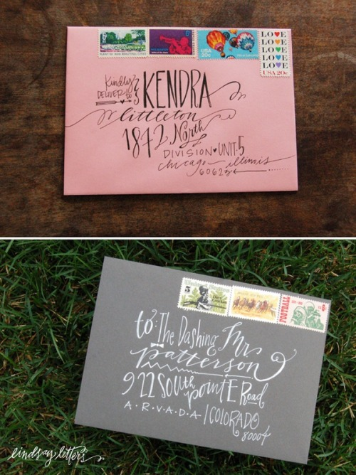 ido-dreams:  Envelope Addressing  The post office is having a heart attack over all of these fancy fonts.