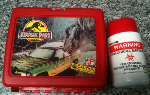 dinoisland:  Jurassic Lunch Box  A thermos like that would result in a SWAT roll these days.