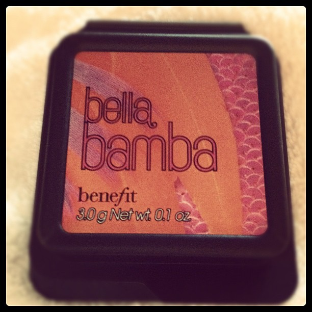 How cute is this tiny Benefit blush I got as a hundred point gift from #sephora  (Taken with Instagram)