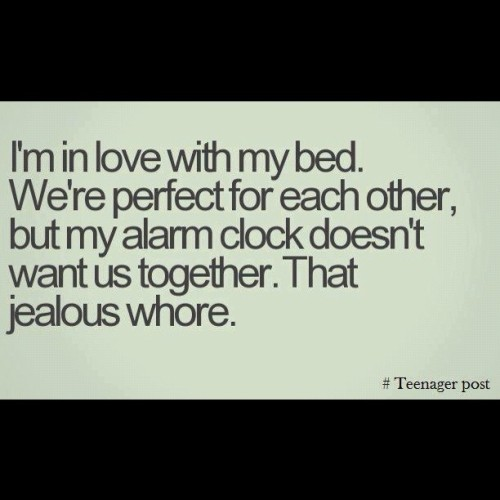#bed #funny #lol #alarmclock #relationships   (Taken with Instagram)
