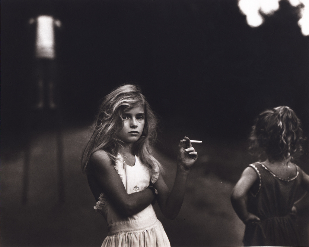 suicideblonde:  Candy Cigarette by Sally Mann