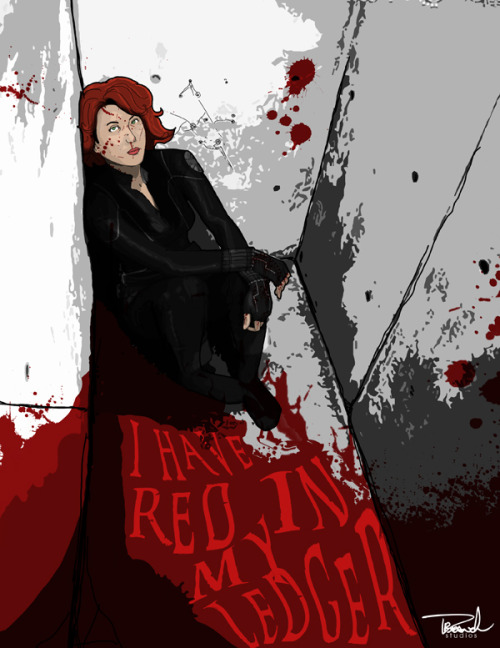branch56:  Avenger's Black Widow Art. Remember Natasha Romanoff IS A DANGEROUS PERSON.
