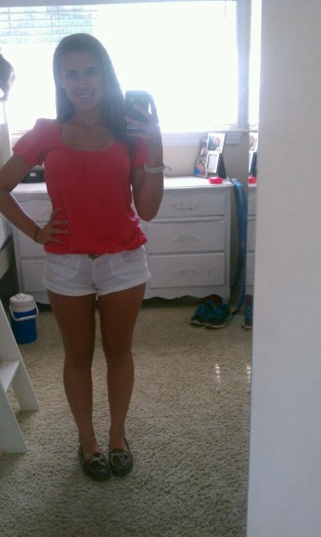 Top: J-Crew Shorts: Pacsun (surprisingly) Shoes: Sperrys