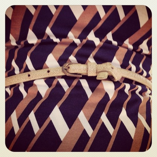 #accessories #belts #style #monday #fashion #tan #patterns #belt  (Taken with Instagram)