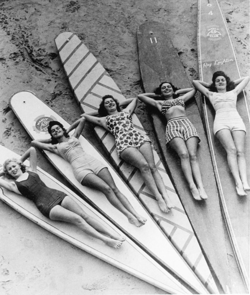 Surf sirens, Manly beach, New South Wales. 1936  via