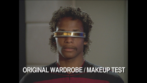 EZ E ryannorth:  LeVar Burton's first screen test as Geordi La Forge, taken from the new TNG Bluray discs.  ummmmmmmmmm THIS IS AMAZING