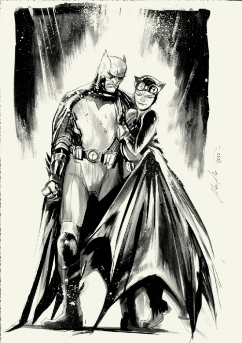 awyeahcomics:  Batman and Catwoman by Rafael Albuquerque