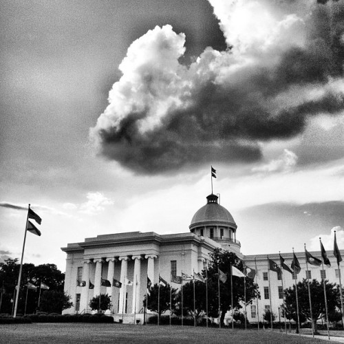 Crazy sky over Alabama State Capitol #montgomery #alabama #historic #architecture #sky #clouds #sunset (Taken with Instagram)