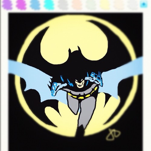 jdavis34:  #drawsomething #batman #thedarkknight (Taken with Instagram at Batman: Year One)