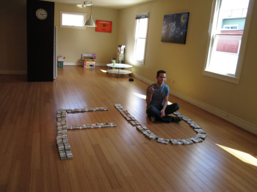 thefrogman:  oatmeal:  As promised, here's the photo of $211,223.04 in cash we raised for charity.  It gets much much better.
