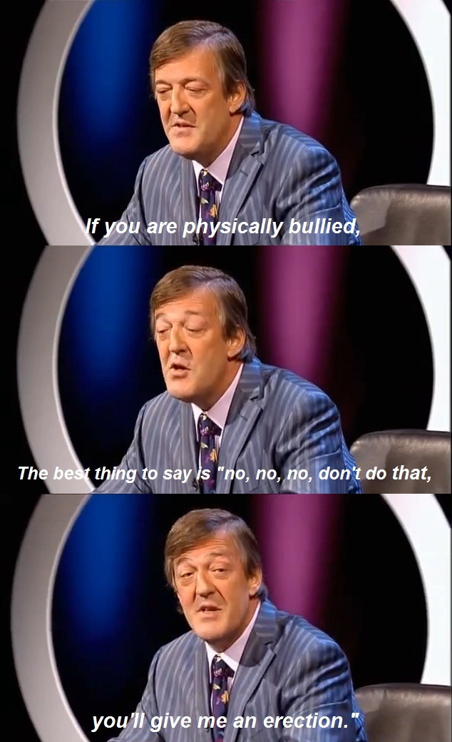 Stephen Fry is a fantastic human being.