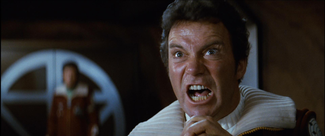"""KHAAAN!"" William Shatner in STAR TREK II: THE WRATH OF KHAN (1982, dir. Nicholas Meyer)"