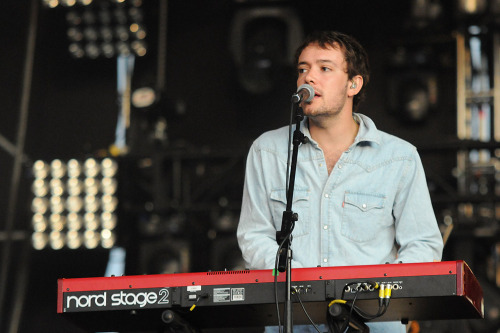 Ben Lovett of Mumford & Sons performs at Open'er Festival in Gdynia, Poland on July 7, 2012. Photo © Piotr Skrzypek.