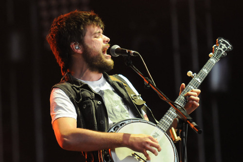 Winston Marshall of Mumford & Sons performs at Open'er Festival in Gdynia, Poland on July 7, 2012. Photo © Piotr Skrzypek.