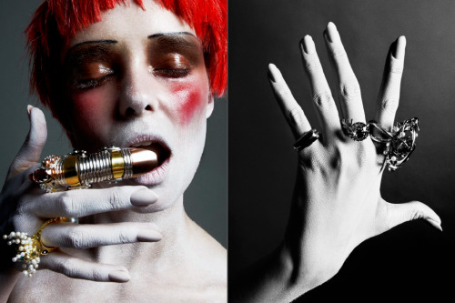 Rings by Claudio Pino PULP Magazine No.5 Model: Masha ( Folio Montreal ) H&M: Paco ( Leloi )