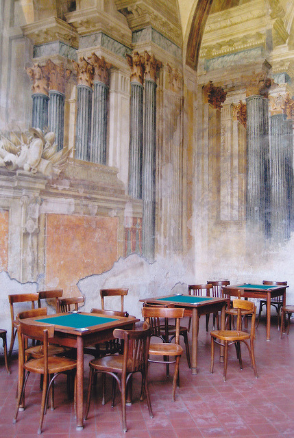 | ♕ |  Frescoed room in Sorrento  | by © Monica Forss | via ysvoice
