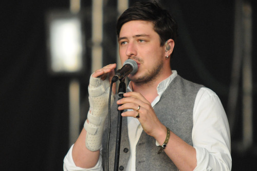 Marcus Mumford of Mumford & Sons performs at Open'er Festival in Gdynia, Poland on July 7, 2012. Photo © Piotr Skrzypek.