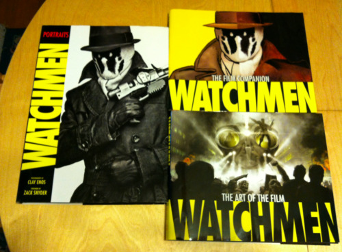 Even more books for sale! This time I'm selling my WATCHMEN FILM COMPANION BOOKS; that includes THE ART OF THE FILM, FILM COMPANION, and WATCHMEN PORTRAITS. Pretty much, if you're a fan of the WATCHMEN film, this is your Holy Grail.
