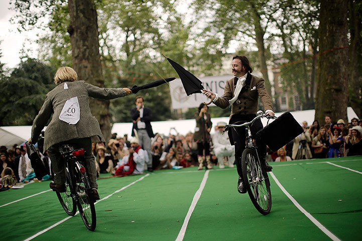Gentlemen compete in the Chap Olympiad – in picturesguardian.co.uk The annual Chap Olympiad, described as 'a celebration of eccentricity and athletic ineptitude with the emphasis on panache and style over sporting prowess', took place in Bedford Square, London, at the weekend and featured events such as cucumber…