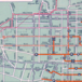 (via 1934 Map Shows Los Angeles' Extensive Public Rail System: LAist)  zoomable