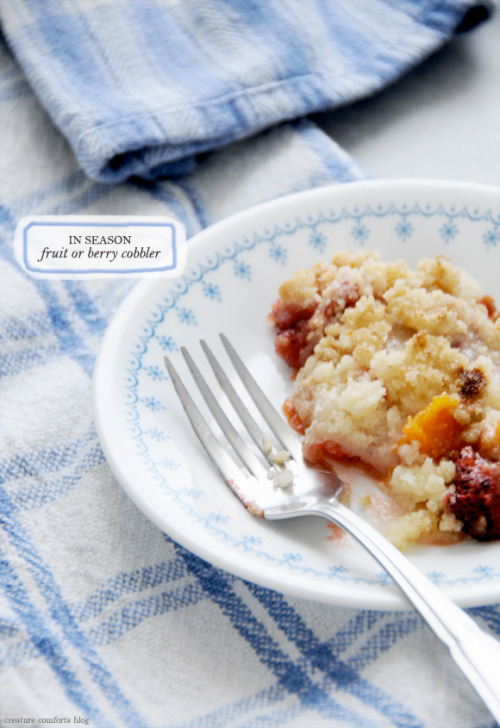 Recipe:  In Season Fruit or Berry Crumble