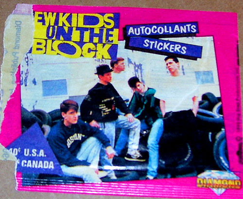 New Kids on the Block Trading Cards Wrapper (1990)