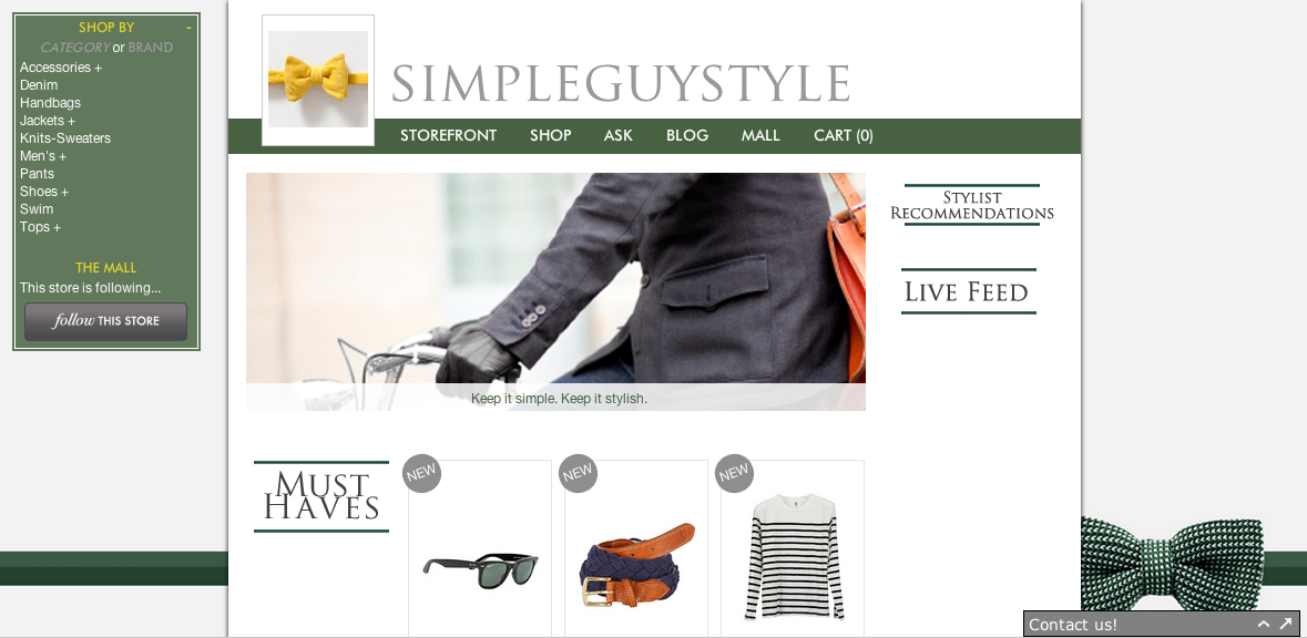 Visit our brand new @StyleOwner shop today to browse a great selection of items and get inspired! New items added regularly:  http://simpleguystyle.styleowner.com/