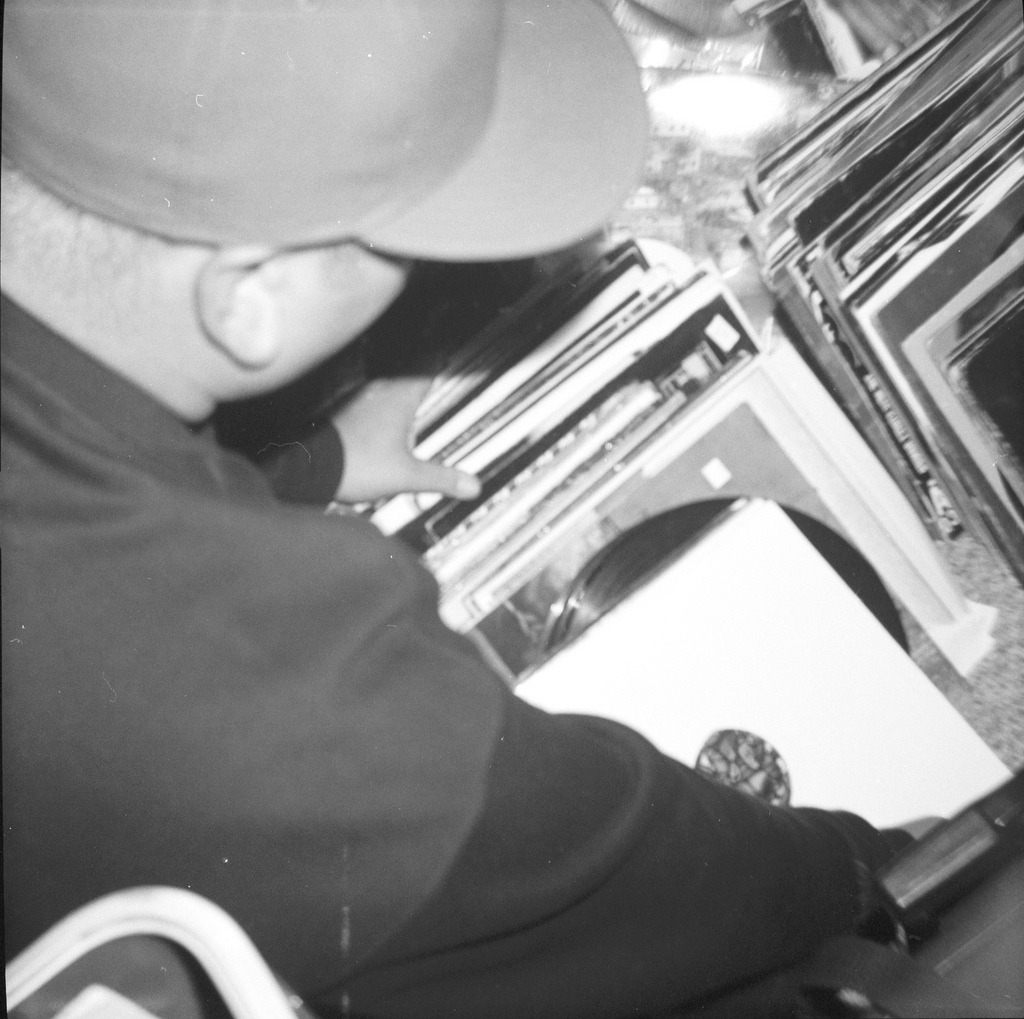 Dj StilliLLPDX digging in the crates. 120/Diana (by NoSecretsBetweenSailors)