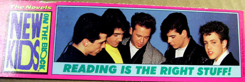 New Kids on the Block Bookmark (1990)