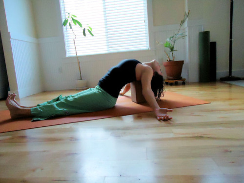 "yoga-chikitsa:  Restorative Heart Opener (by Yoga ♥ Love)  Is it weird that everytime I see restorative yoga heart openers (really specific, I know) I think ""YUM""?"
