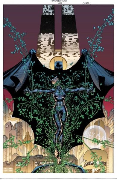 Jim Lee's exquisite cover for Batman #611, part 4 of Jeph Loeb's epic Hush.