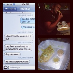 @maykol305 being all violent to me! But he took me to Los verdes for an early bday celebration ☺😁🎉🎁 (Taken with Instagram)