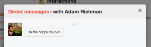 I tweeted Adam Richman asking him to make a toast at me and my boyfriend's future wedding, AND HE PERSONALLY MESSAGED ME THIS. GUYS I'M FREAKING OUT