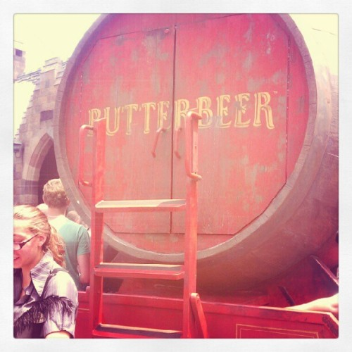 Butter Beer cart with the most delicious drink inside. (Taken with Instagram)