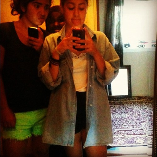 #going #to #miss #these #bitches #alot #swag #love #summer #summeroutfits #oftd #shirt #blue #shorts #black #duckface #green #justinbieber #summerfeeling #swag   (Taken with Instagram)