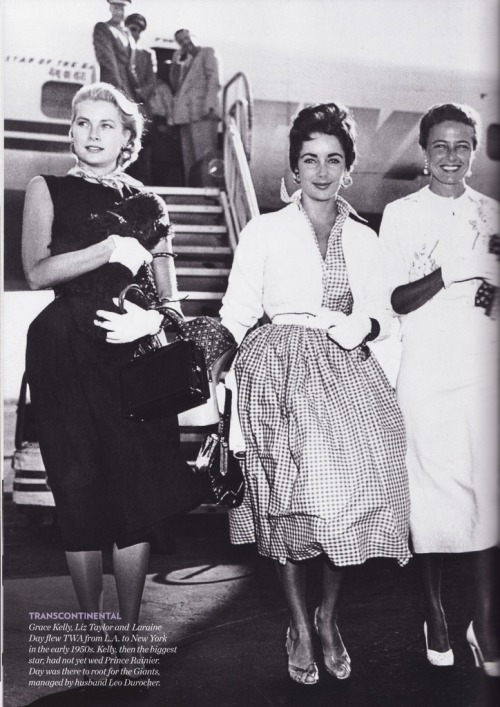 Grace Kelly, Elizabeth Taylor and Laraine Day. And a dog.