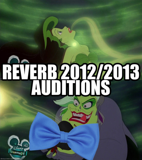 Oh. Yeah. Also. I made this picture for the Facebook event for Reverb auditions.