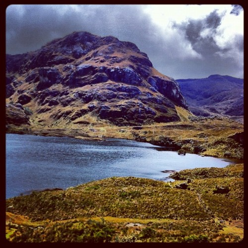 cloudy day in #ecuador  (Taken with Instagram at El Parque Nacional Cajas)