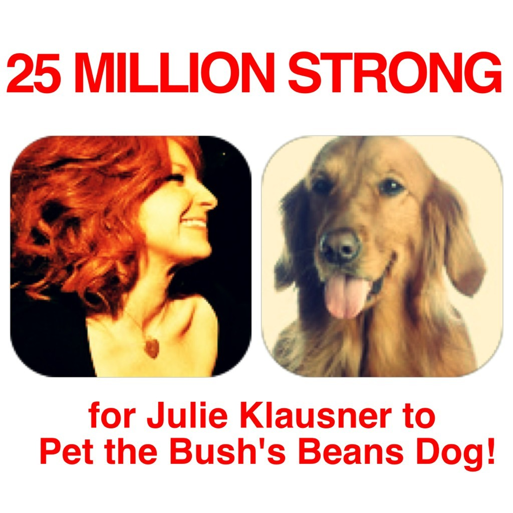 julieklausner:  I started a campaign on Twitter tonight to pressure the fine people at Bush's Baked Beans to let me pet their dog. Please tweet them or join the Facebook page dedicated to this incredible cause so this dream of mine comes true. Thank you. (Thanks to Bethany Noodle for setting up the FB page and @FlyOverStateFOS for making the graphic. You're both heroes.)  Very cool!