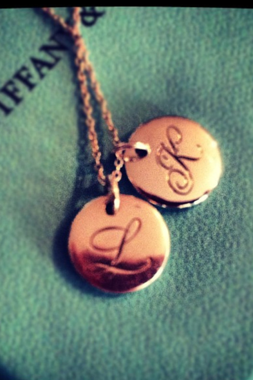 Day 17: Favorite piece of jewelry.   My necklace with the charms of my babies' initials. I am a HUGE fan of accessories and jewelry so to help make my choice I first ruled out anything I would qualify as accessories. Then I had a lot of jewelry I love, a vintage style diamond necklace my grandma gave me, my Tiffany's charm bracelet, my wedding ring, my new heart ring, several other necklaces from my husband, my diamond earrings… There was a lot to choose from. I chose this necklace because I always wear it no matter what. I love it because obviously it has to do with my beautiful children that I love so much.