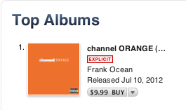 frankoceanfans:  frank ocean currently has the number one album on iTunes. we did it. what a historic moment.