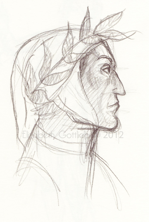 Sketch of Dante Alighieri again. <3