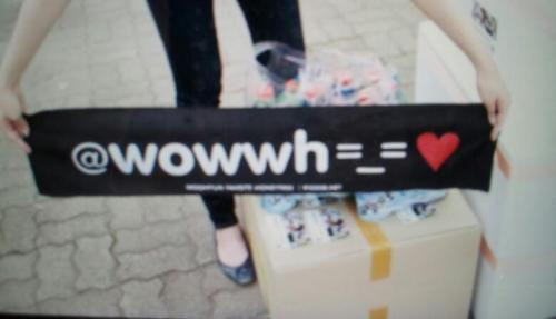 woohyunbiased:  120710 Honey Tree supporting banner =_=