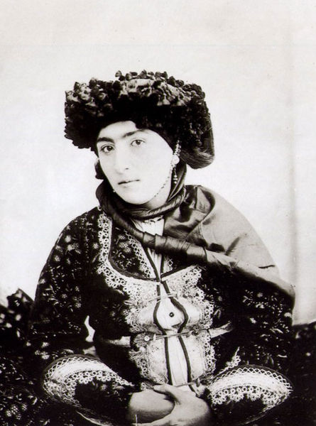 Antoine Sevruguin's photo of a Kurdish girl during the Qajar era.